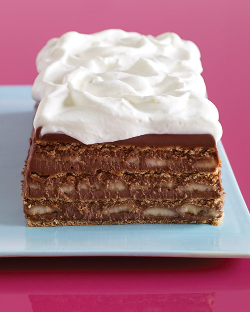 And you don't even have to use cookies. This icebox cake one uses ...