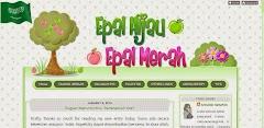 Tempahan Design Blog: Epal Hijau, Epal Merah