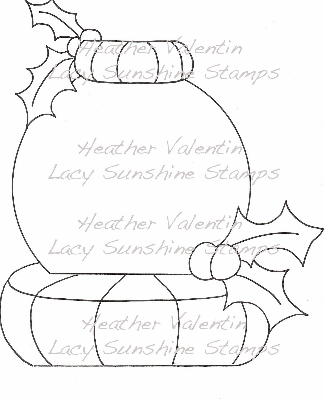 christmas snow globes coloring pages - photo#36
