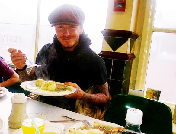 Beckham (pictured) wants to create a global franchise of eateries selling his favourite grub