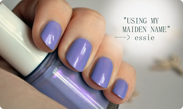 essie USING MY MAIDEN NAME nail lacquer - Swatch