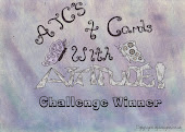 Proud winner at ATC's and Cards with Attitude