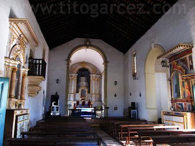 Interior da igreja Nossa Senhora do Rosário dos Homens Pretos, em São Cristóvão - Sergipe - Por Tito Garcez