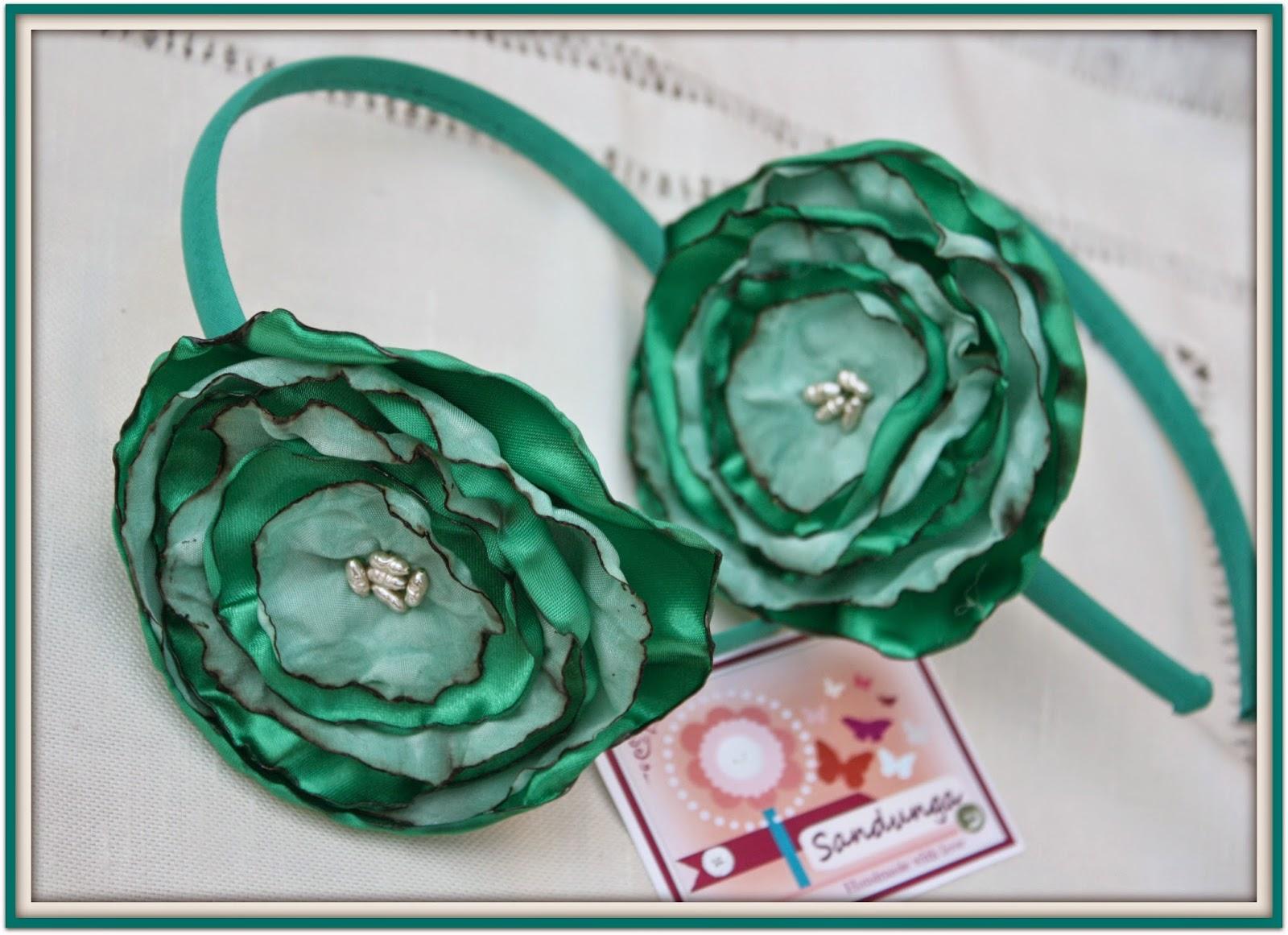 Sandunga Complementos: PRIMAVERA: Flores verdes para la cabeza y los ...