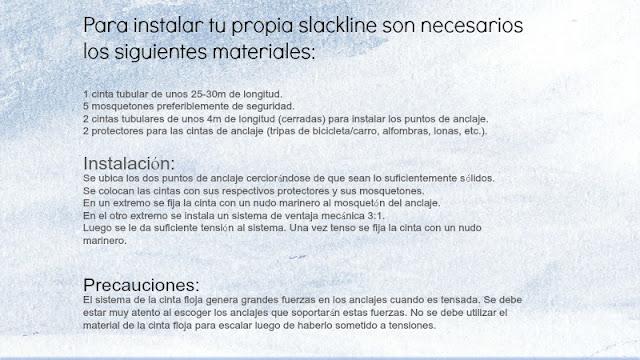 Cómo fabricar un slackline