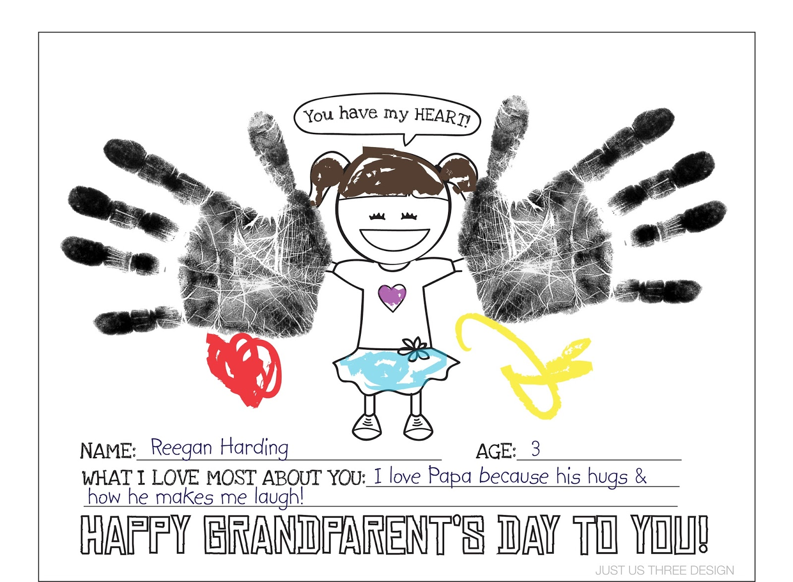 graphic about Grandparents Day Cards Printable named harding happenings: Grandparents Working day Printable