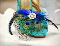 Royal Blue Peacock Shoe Clips by Sofisticata