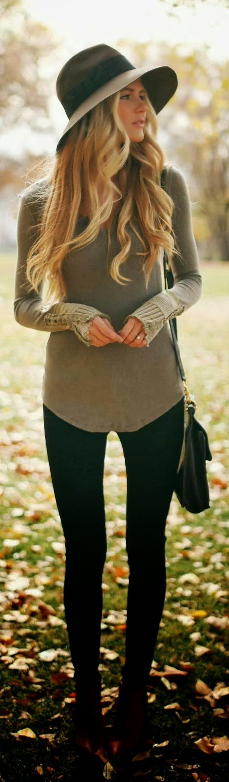 Amazing Sweater with Black Leggings