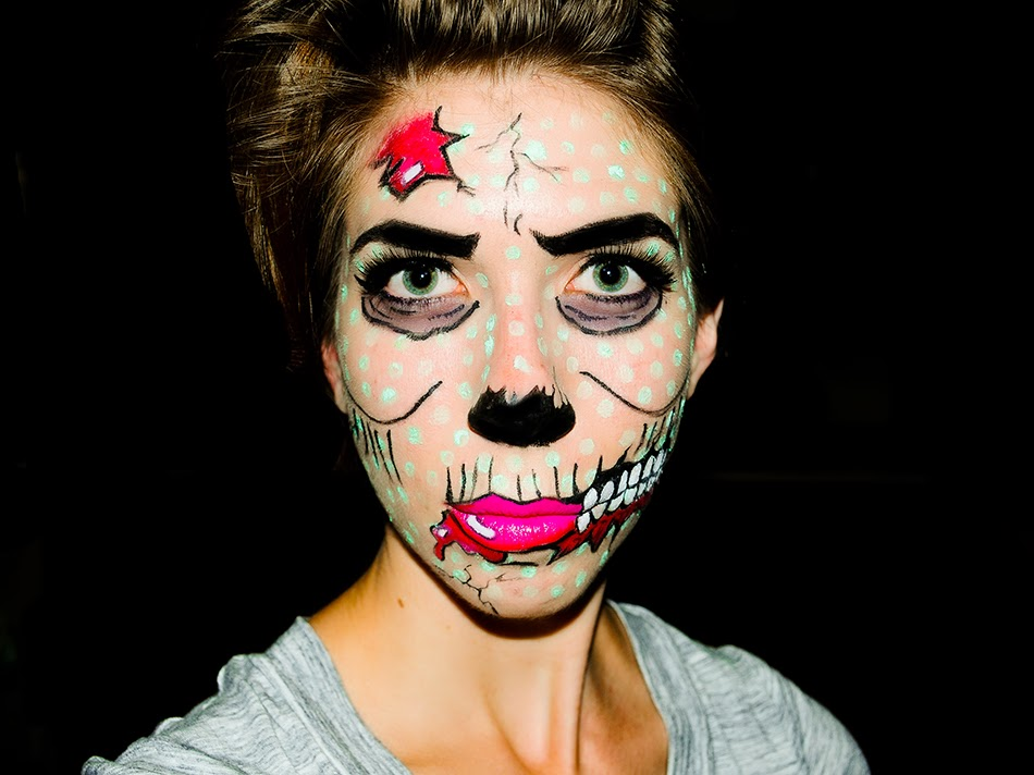 Pop Art Zombie   Halloween TutorialPop Art Zombie Makeup