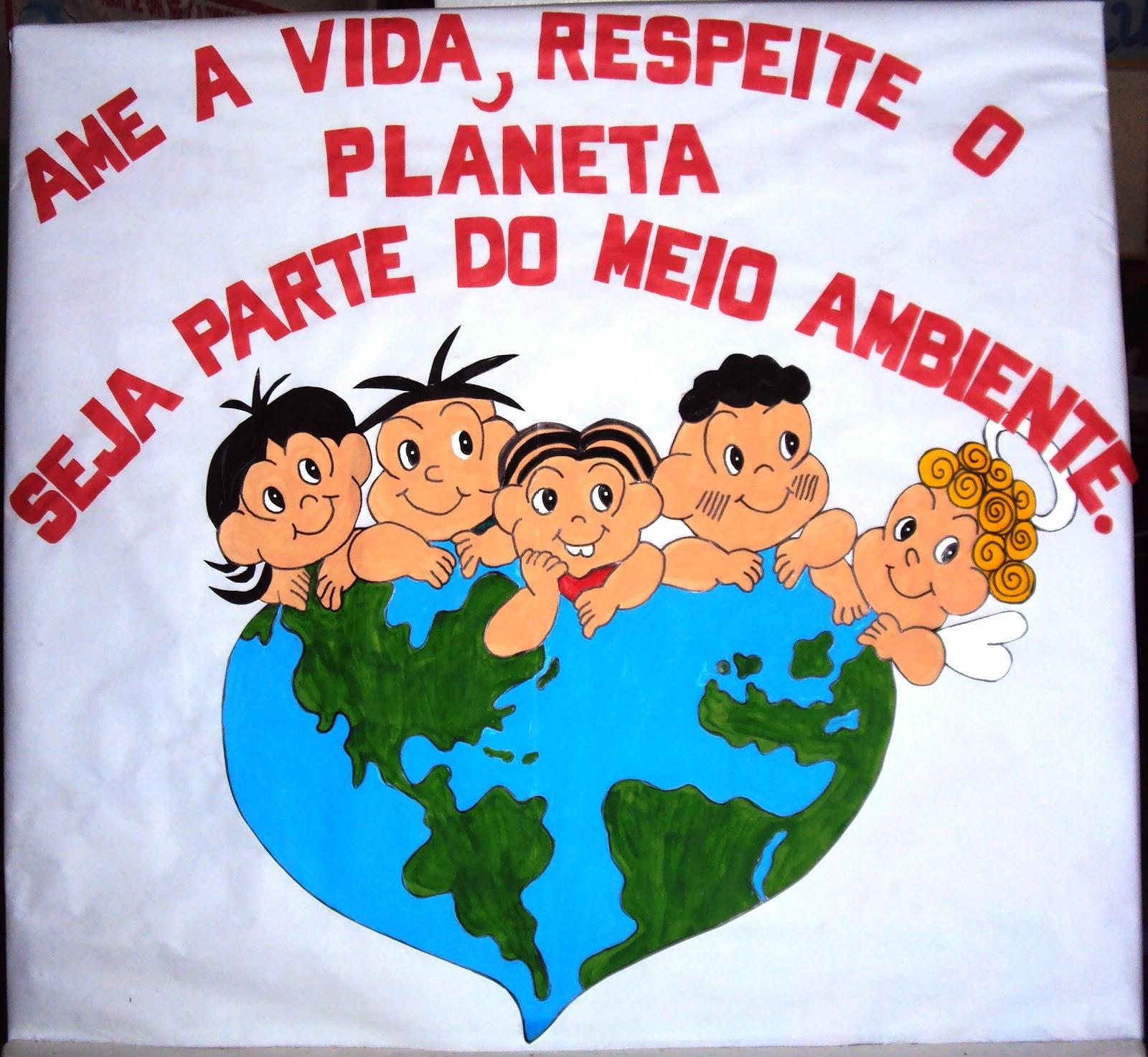 Wcb criatividades cartaz meio ambiente for Mural sobre o meio ambiente