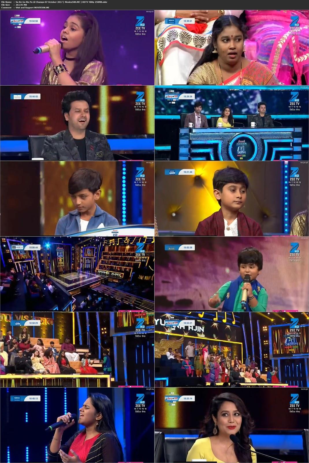 Sa Re Ga Ma Pa Lil Champs 07 October 2017 HDTVRip 480p at 9966132.com