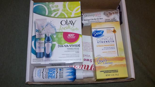 voxbox, influenster, sweetheart, skinny girl, olay, secret, deodorant, not your mother's, beach babe, snack bar, healthy, hair care, free