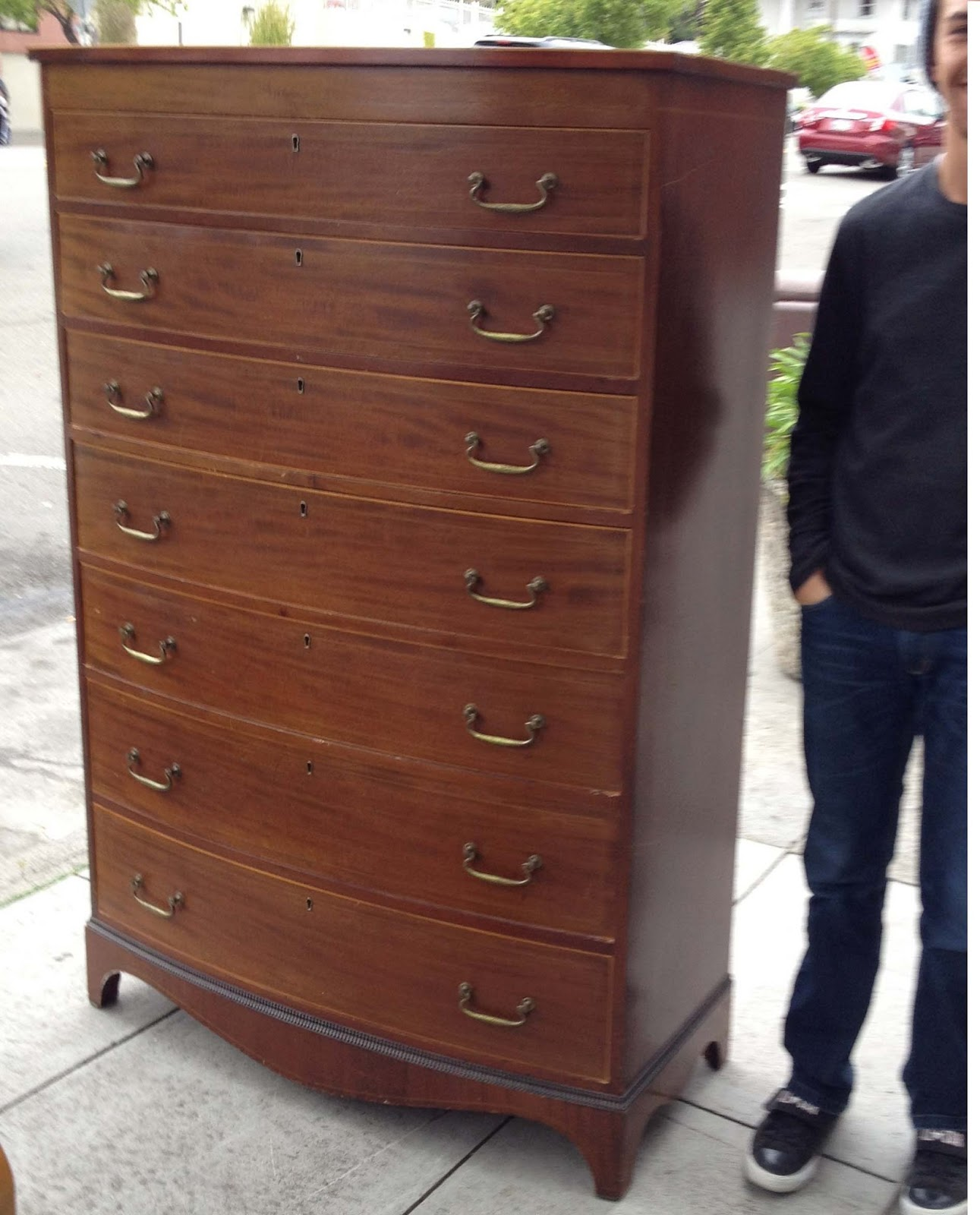 Uhuru Furniture Collectibles Sold Tall Treasure Chest Of Drawers 350
