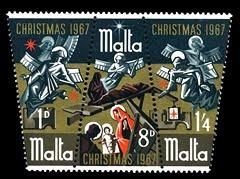 Stamps - Malta Christmas 1967
