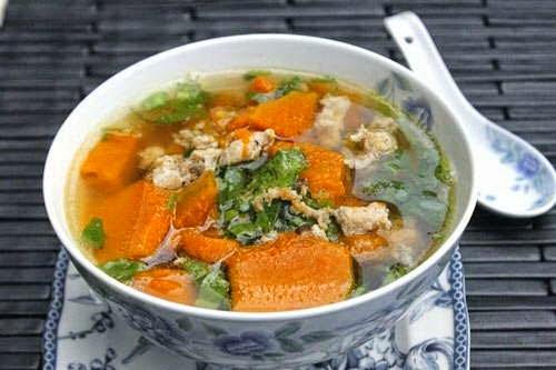 Pumpkin Soup with Grinded Pork Recipe - Canh Bí Đỏ Thịt Bằm