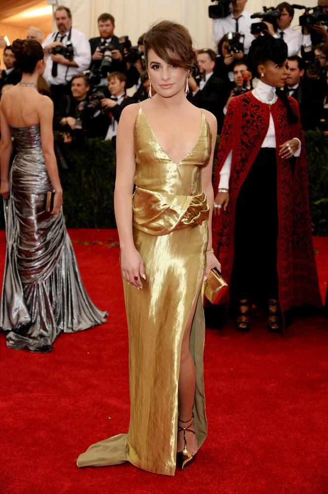 Lea Michele, Met Gala 2014 Red Carpet