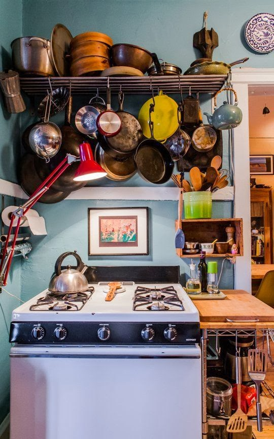 Great Hanging Pans: A Well Loved, Well Used Kitchen