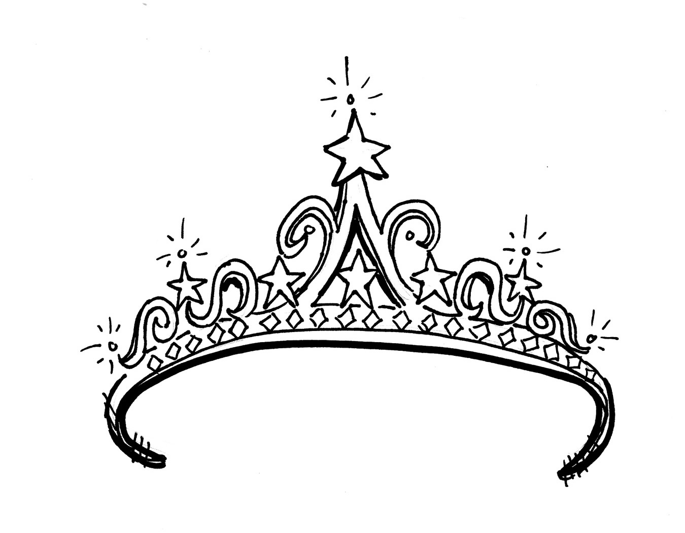 Princess Tiara Coloring Pages Download Page Tattoo Tiara Coloring Page