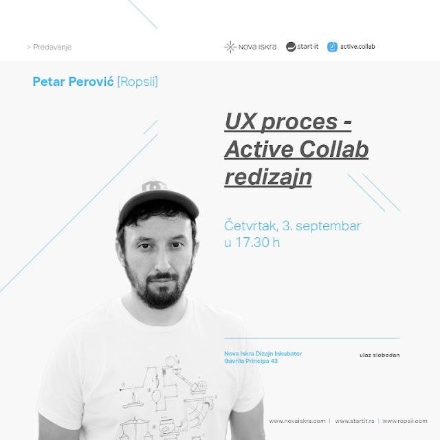 """Predavanje """"UX proces - Active Collab redizajn"""""""