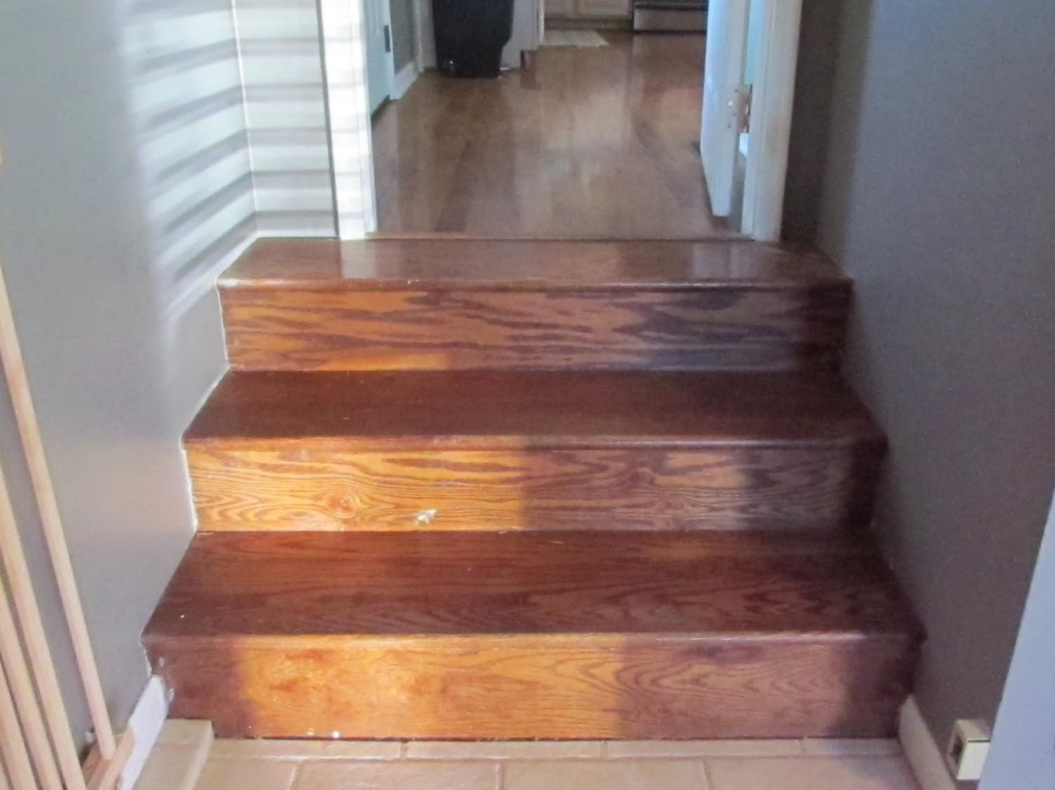 A Trip To Home Depot For Some Quarter Round And Matching Floor Stain We  Were Ready To Go. Getting The Stain To Match Up Perfectly Was The Hard Part  Since We ...