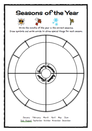 Worksheet seasons, months and days of the week – English primary ...