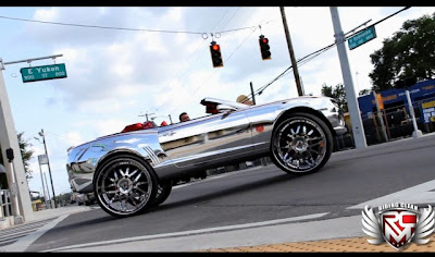 Conheça o Rei do Camaro: SS Dentro  Conversível cromado com uma rodas 32-polegada