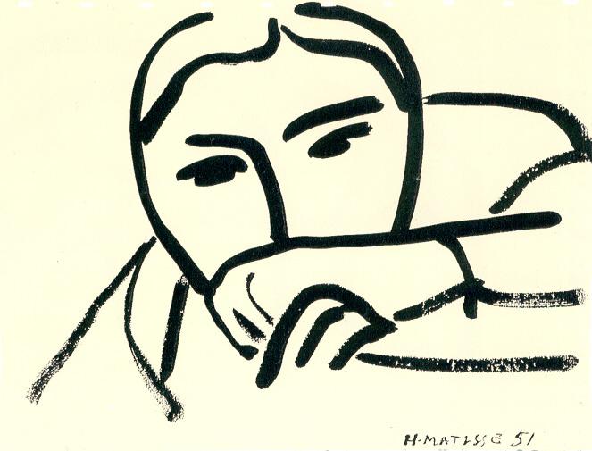 Line Drawing By Matisse : Drawing at duke henri matisse