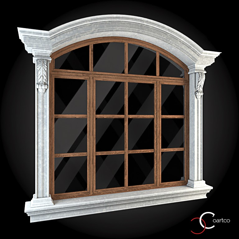 Ornamente Geamuri Exterior, fatade case cu profile decorative polistiren, profile fatada,  Model Cod: WIN-063