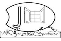 Alfabeto centopeia letra J
