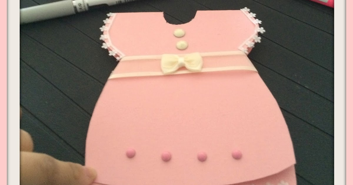 D.I.Y Projects: Baby Shower Invitation Card (Baby Girl)
