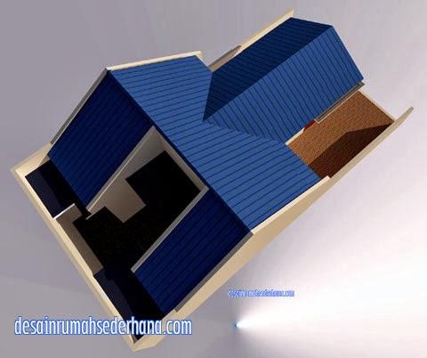 gambar desain rumah sederhana type 60 m2 tanah 120 m2
