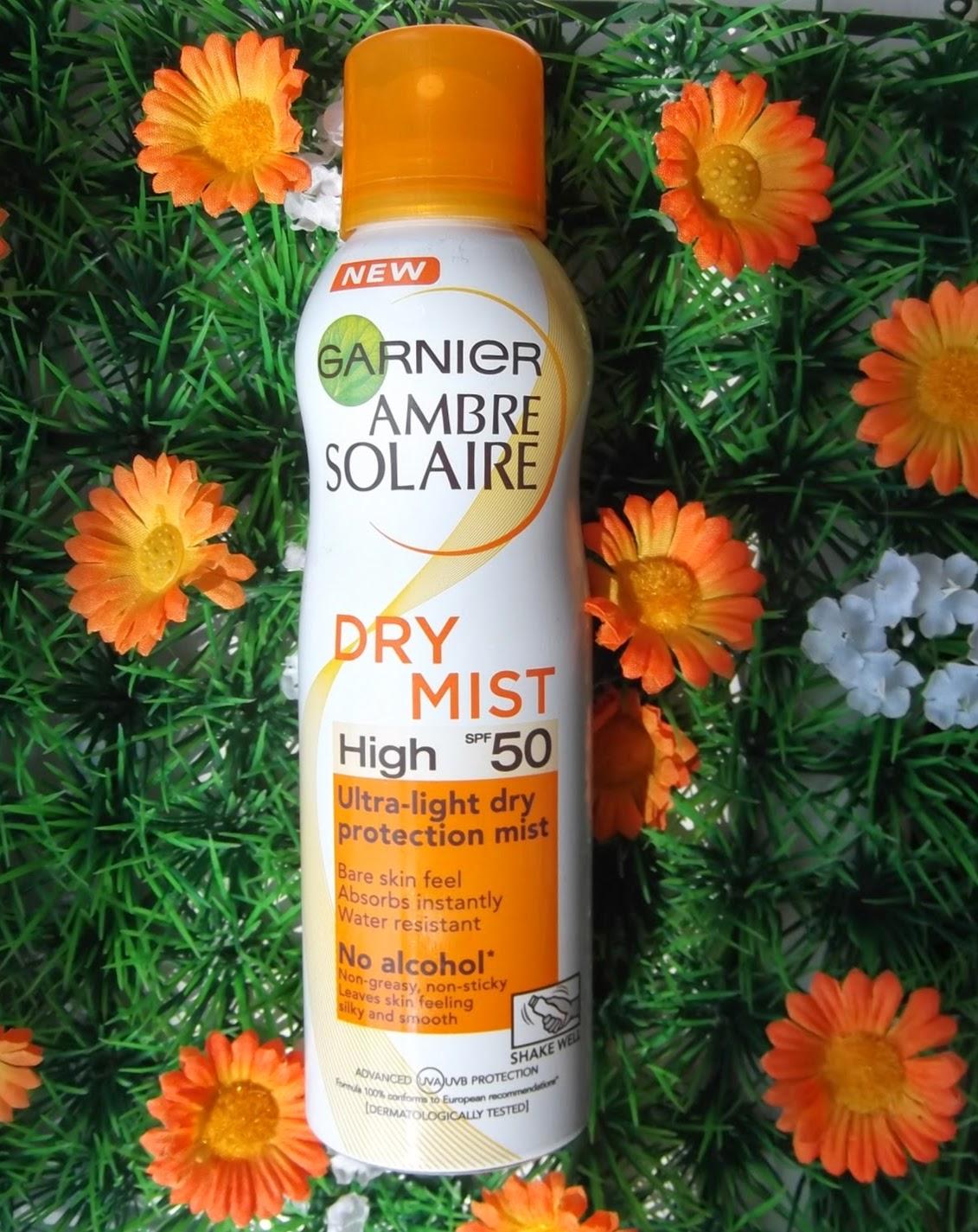 garnier ambre solaire dry mist sunscreen spf50