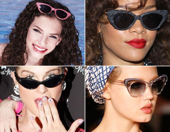 Óculos gatinho  não é só o delineador gatinho que voltou com tudo, mas  também os óculos nesse formato sessentinha! Os novos modelos ganham mais  cores e até ... 38adf1fa2a