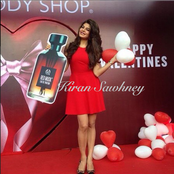 Jacqueline Fernandez at the opening of new Body Shop