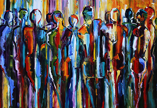 Texas Contemporary Fine Artist Laurie Pace Figurative Abstract