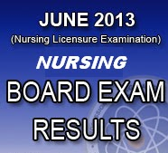 (NLE) Results also known as June 2013 Nursing Board Exam Results