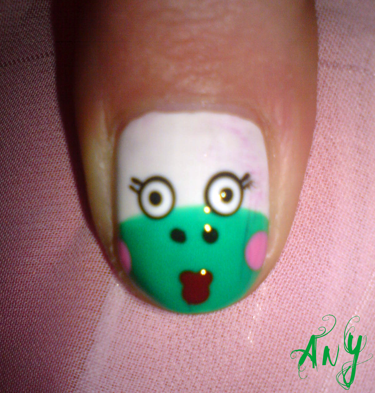 Frog Nail Art: Any Rainbow: Ugly Frog Nail Design