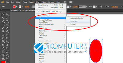 Tutorial membuat Objek Apel 3D di Adobe Illustrator