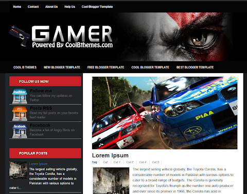 Gamer Blogger Theme