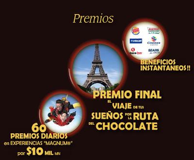 premios viaje España, Francia, Bélgica y Suiza de tus sueños por La Ruta del Chocolate de Magnum, Helados Holanda Mexico 2011