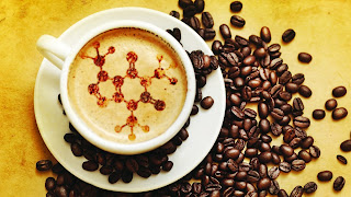 Chemistry Structure In Coffee And Beans