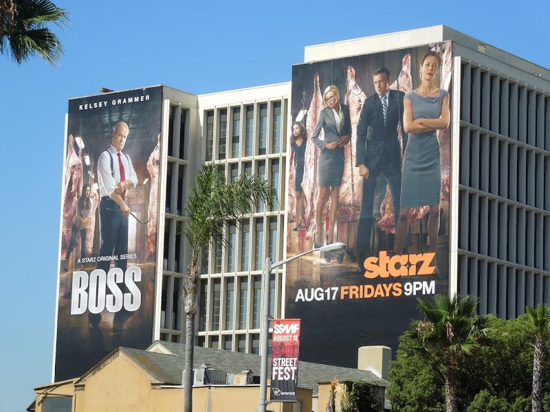 Boss season 2 Starz billboards