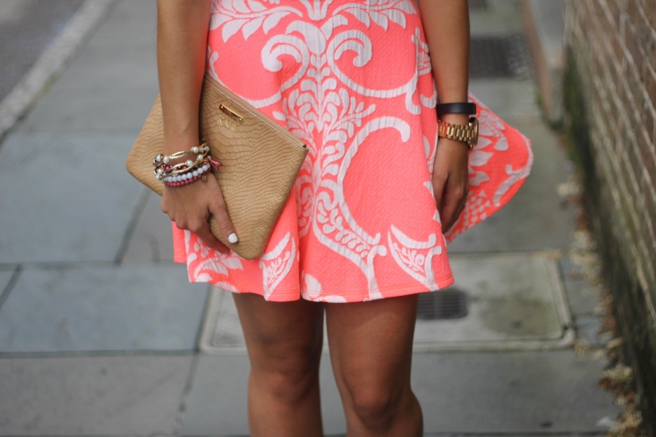 Neon Skater Skirt and GiGi New York