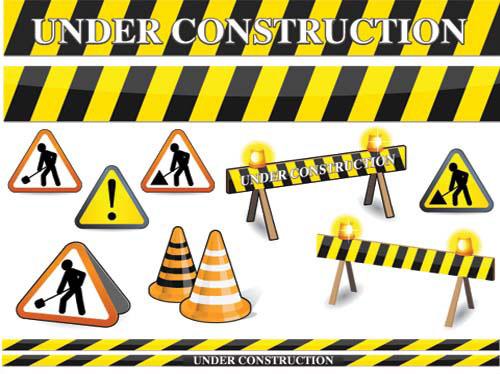 Under construction clip art vector