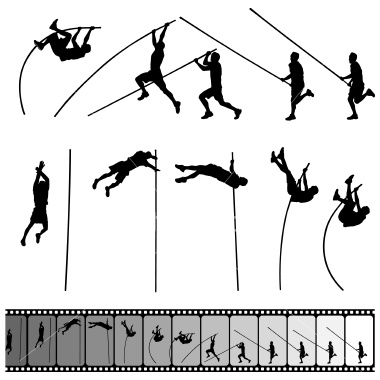 Pole Vaulter Silhouette Never too old to fly!