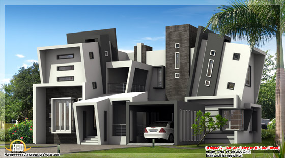 4 bedroom ultra modern house elevation