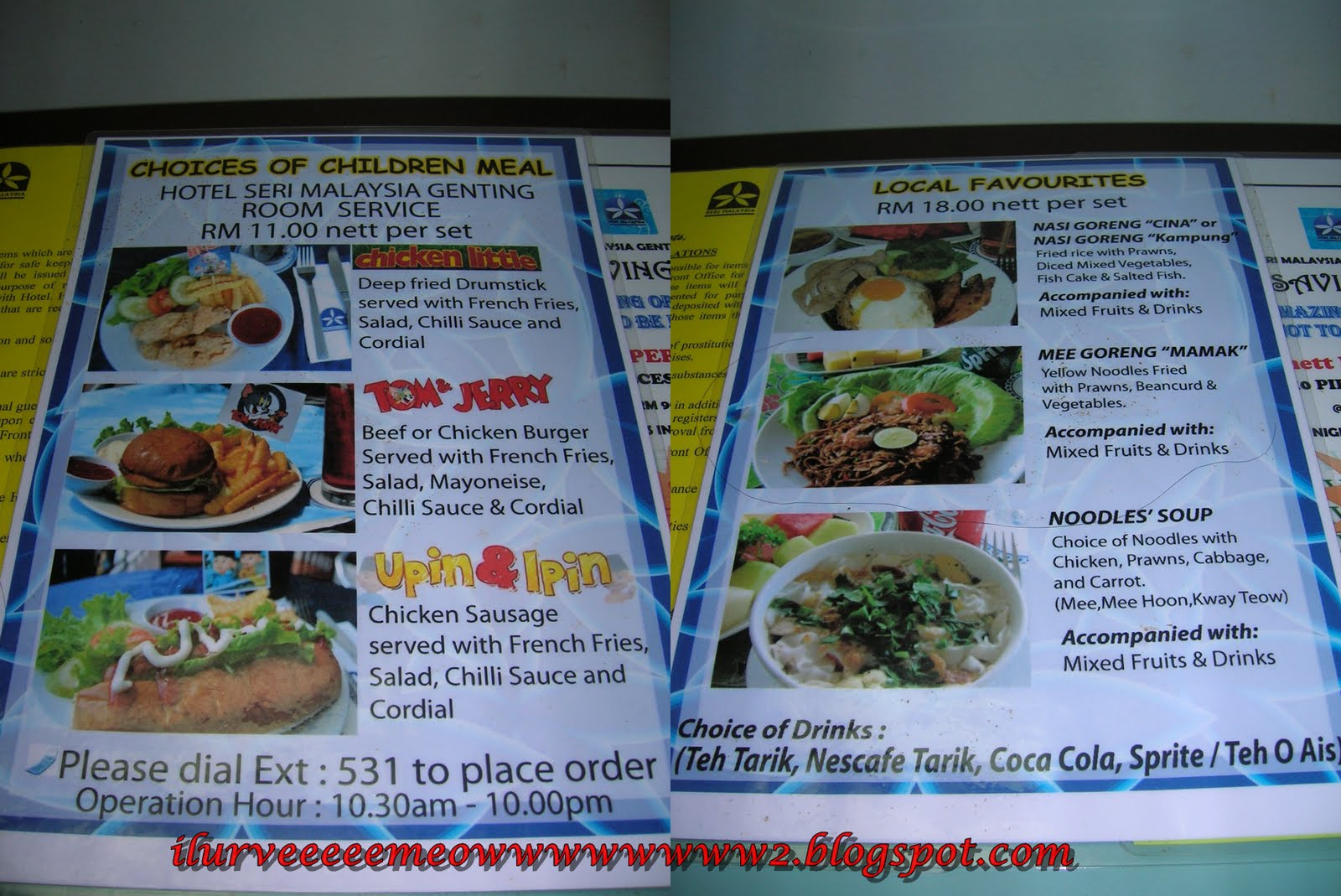 Whereabouts Cafe Menu