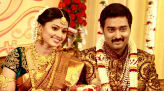 Sneha and Prasanna Wedding Reception stills