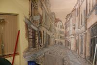 Toruń, malarstwo ścienne, malowanie obrazu na ścianie, aranżacja gabinetu