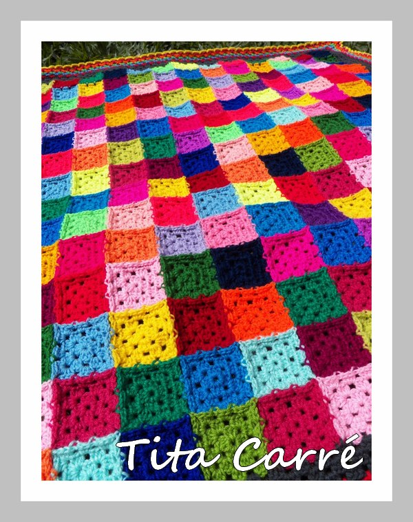 Colcha de  Mini Squares Muito coloridos